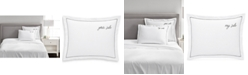 """Charter Club CLOSEOUT! """"Your Side/My Side"""" Cotton 20"""" x 28"""" Sham, Created for Macy's"""
