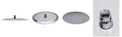 """ALFI brand 12"""" Oval Brushed Solid Stainless Steel Ultra Thin Rain Shower Head"""