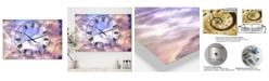 "Designart Cloud Sculpting 2 Large Cottage 3 Panels Wall Clock - 23"" x 23"" x 1"""