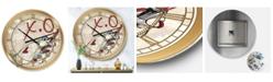 "Designart Gypsy Hippy Hand Lipstick Xo Large Cottage Wall Clock - 36"" x 28"" x 1"""