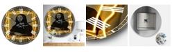 "Designart Mona Lisa Neon Large Modern Wall Clock - 38"" x 38"" x 1"""