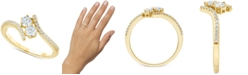 Macy's Diamond Two-Stone Bypass Ring (1/2 ct. t.w.) in 14k Gold