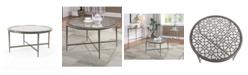 Furniture of America Porcelain Steel Frame Coffee Table