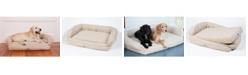 3 Dog Pet Supply Ez Wash Premium Headrest Memory Foam Dog Bed, Large