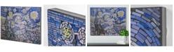 Crystal Art Gallery American Art Decor Vincent Van Gogh Starry Night Crushed Glass Mosaic Wall Art Decor