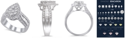 Macy's Certified Diamond (1-1/2 ct. t.w.) Engagement Ring in 14K White Gold
