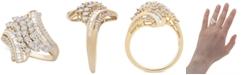 Macy's Diamond Swirl Cluster Statement Ring (1 ct. t.w.) in 10k Gold