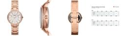 Fossil Women's Virginia Rose Gold-Tone Stainless Steel Bracelet Watch 30mm ES3284