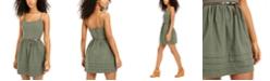 City Studios Juniors' Belted A-Line Dress