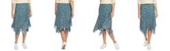 1.STATE Woodland Floral Midi Skirt