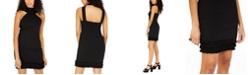 bebe Juniors' Ruffle-Hem Bodycon Dress