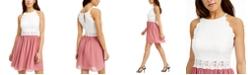 BCX Juniors' Lace & Chiffon Dress
