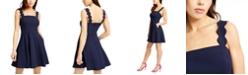 City Studios Juniors' Scalloped Wide-Strap Dress