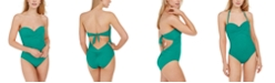 kate spade new york Underwire Bandeau One-Piece Swimsuit