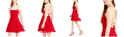 City Studios Juniors' Strappy-Back Chiffon Dress