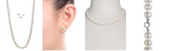 """Macy's 2-Pc. Set Cultured Freshwater Pearl (5-6mm) 18"""" Strand Necklace & Matching Stud Earrings"""