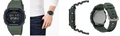 G-Shock Men's Digital Green Resin Strap Watch 43.8mm