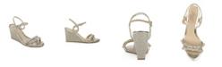 Jewel Badgley Mischka Neil Evening Wedge Sandal