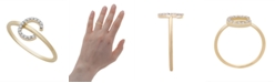 Macy's Diamond Initial Ring (1/10 ct. t.w.) in 14k Gold