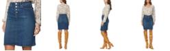 NYDJ Button-Fly Denim Skirt