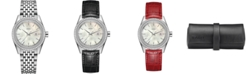 Rado Women's Swiss HyperChrome Classic Diamond (1/3 ct. t.w.) Stainless Steel & Leather Watch Set 35mm