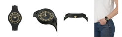 Versus by Versace Women's Fire Island Studs Black Silicone Strap Watch 39mm