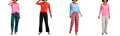 Jenni Ribbed Hacci Pajama Top & Pajama Pants Separates, Created for Macy's