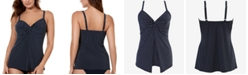 Miraclesuit Pin Point Love Knot Tankini Top