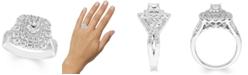Macy's 1 1/2 Carat Diamond Double Halo Ring in 14K White Gold
