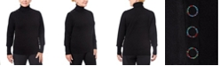 Joseph A Women's Petite Button-Shoulder Turtleneck Sweater