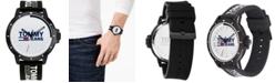 Tommy Hilfiger Tommy Hilfiger Black Silicone Strap Watch 44mm