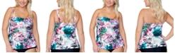 Raisins Curve Trendy Plus Size Protea Haute Bloom Printed Tankini Top