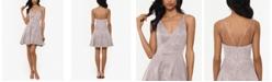 XSCAPE Glitter Fit & Flare Dress