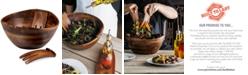 Picnic Time Heritage Collection by Fabio Viviani Acacia Wood 3-Piece Salad Set