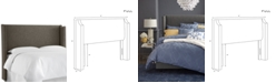 Skyline Jada Full Nail Button Wing Back Headboard