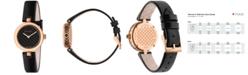 Gucci Women's Swiss Diamantissima Black Leather Strap Watch 27mm YA141501