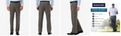 Haggar Men's Cool 18 PRO® Classic-Fit Expandable Waist Flat Front Stretch Dress Pants