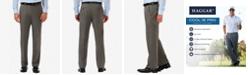Haggar Men's Cool 18 PRO® Classic-Fit Expandable Waist Flat Front Stretch Dress Pants