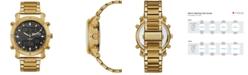Kenneth Cole Reaction Men's Analog-Digital Sport Gold-Tone Stainless Steel Bracelet Watch 45mm