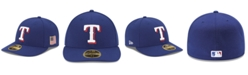 New Era Texas Rangers Authentic Collection Low Profile 9-11 Patch 59FIFTY Fitted Cap