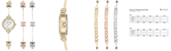 Anne Klein Women's Gold-Tone Bracelet Watch 20mm Gift Set