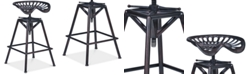 Armen Living Osbourne Adjustable Barstool in Industrial Copper Metal finish
