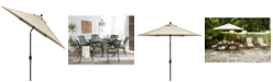 Furniture Chateau Outdoor 11' Push Button Tilt Umbrella with Sunbrella® Fabric, Created for Macy's