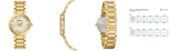 Bulova Women's Futuro Diamond-Accent Gold-Tone Stainless Steel Bracelet Watch 30mm