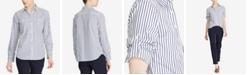 Lauren Ralph Lauren Striped Roll Tab Cotton Pocket Shirt