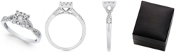 Promised Love Princess-Cut Diamond Promise Ring (1/4-ct. t.w.) in Sterling Silver