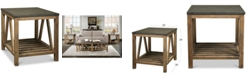 Furniture Breslin Bluestone Rectangle Side Table