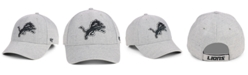 '47 Brand Detroit Lions Heathered Black White MVP Adjustable Cap