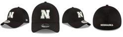 New Era Nebraska Cornhuskers Black White Neo 39THIRTY Cap