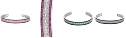 Macy's Certified Ruby (1-3/4 ct. t.w.) & Diamond (1/10 ct. t.w.) Bangle Bracelet in Sterling Silver (Also Available in Emerald & Sapphire)